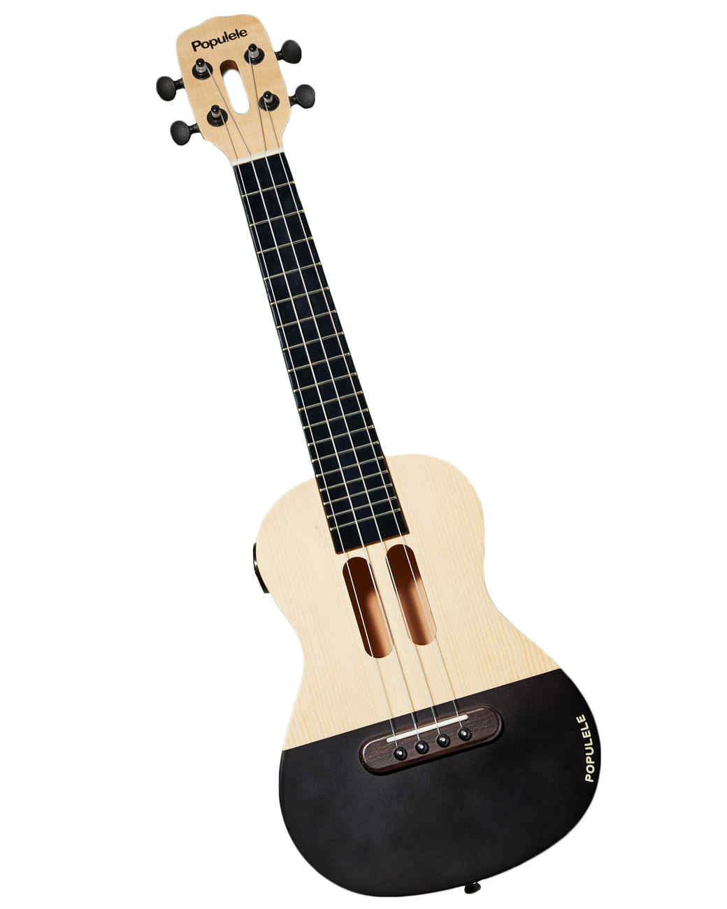 black and tan ukulele
