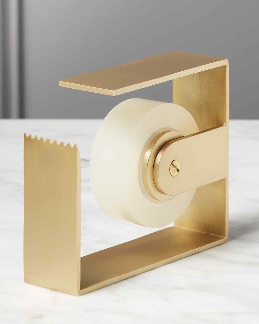 cb2 gold tape dispenser