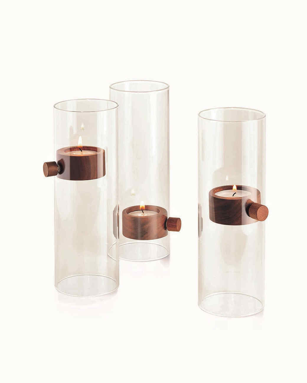 three candle holders