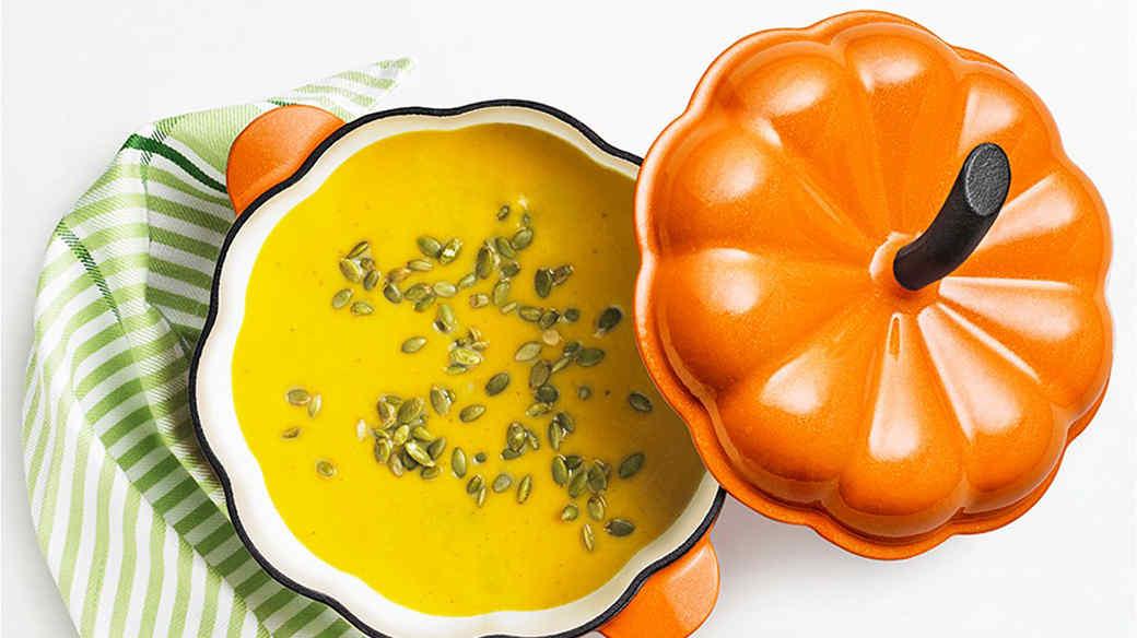 halloween pumpkin casserole dish