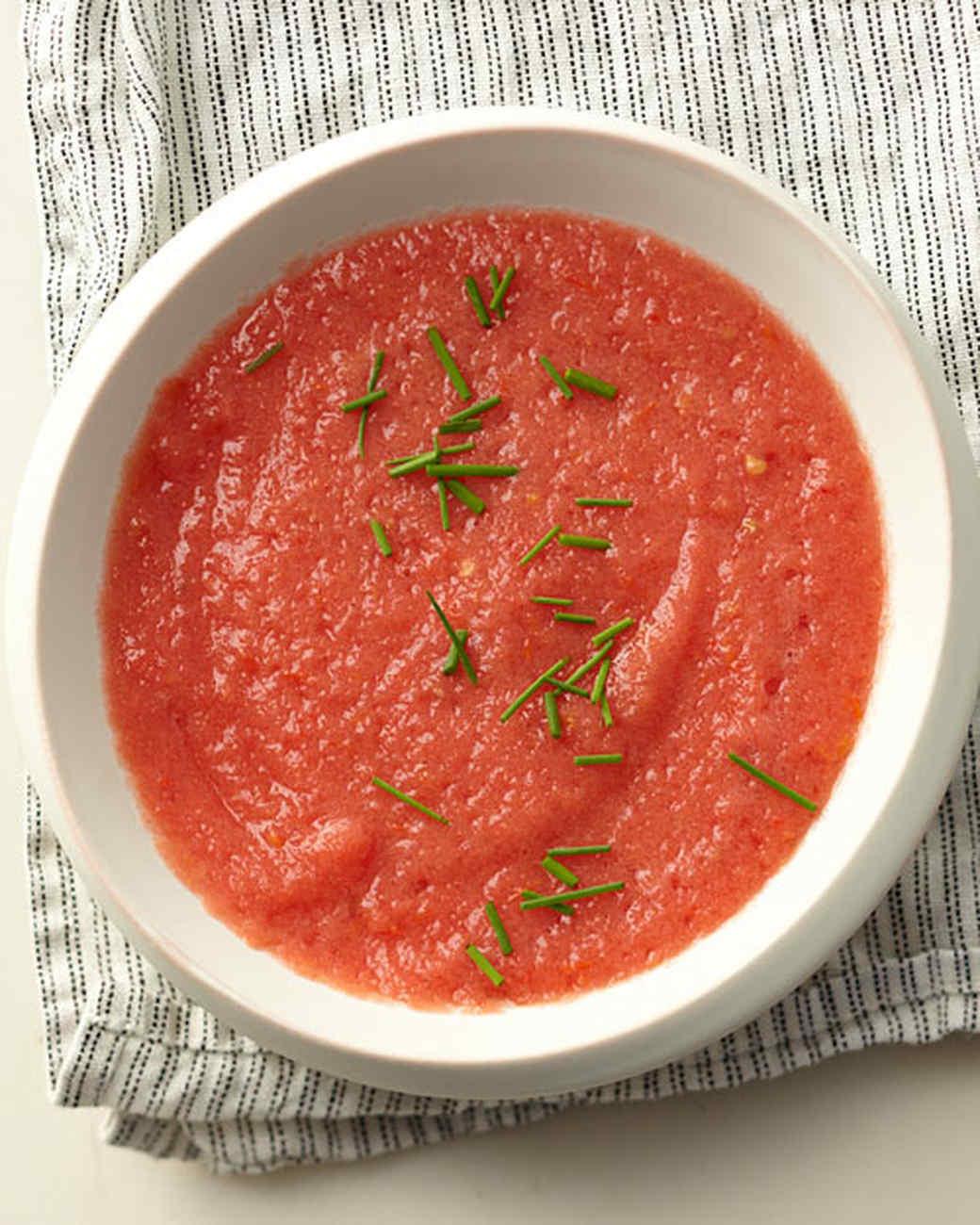 Tomato-Peach Gazpacho