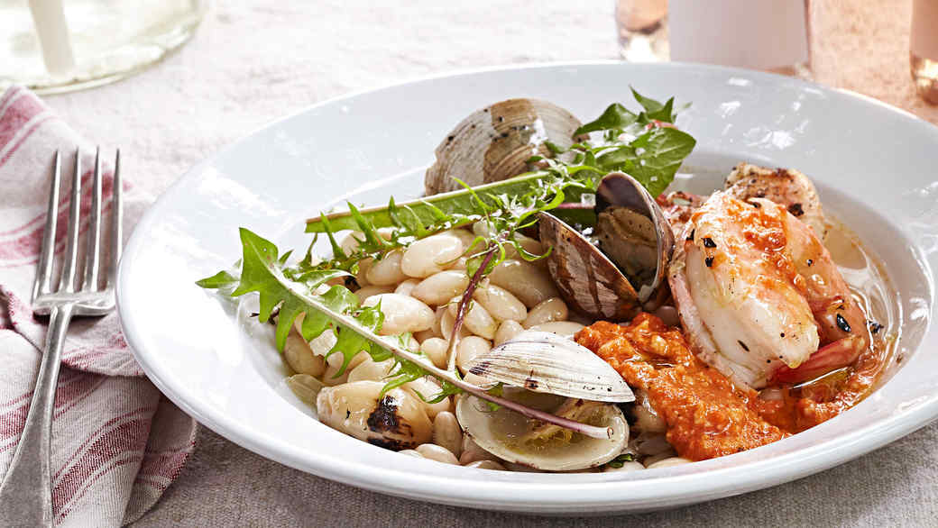 shrimp and clams a la plancha