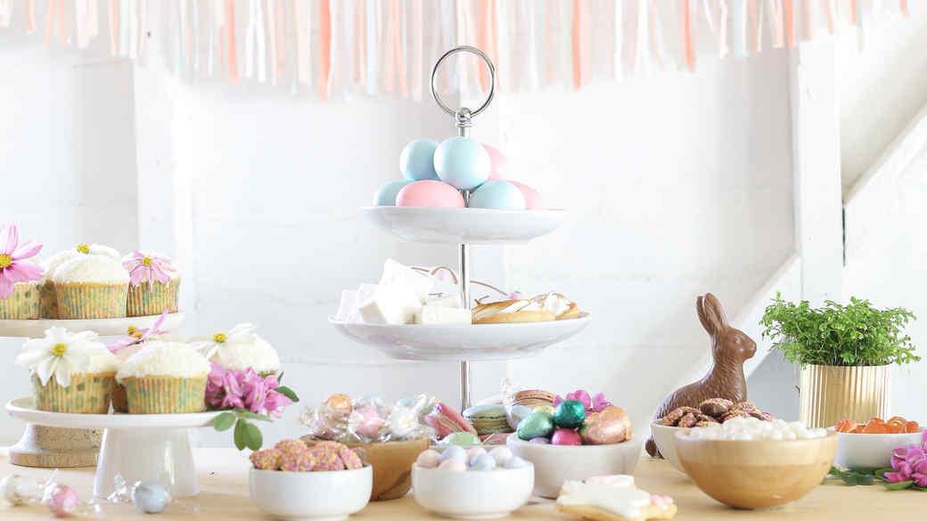 sugar and charm easter dessert bar