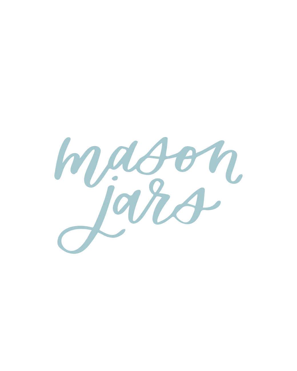 """mason jars"" calligraphy"