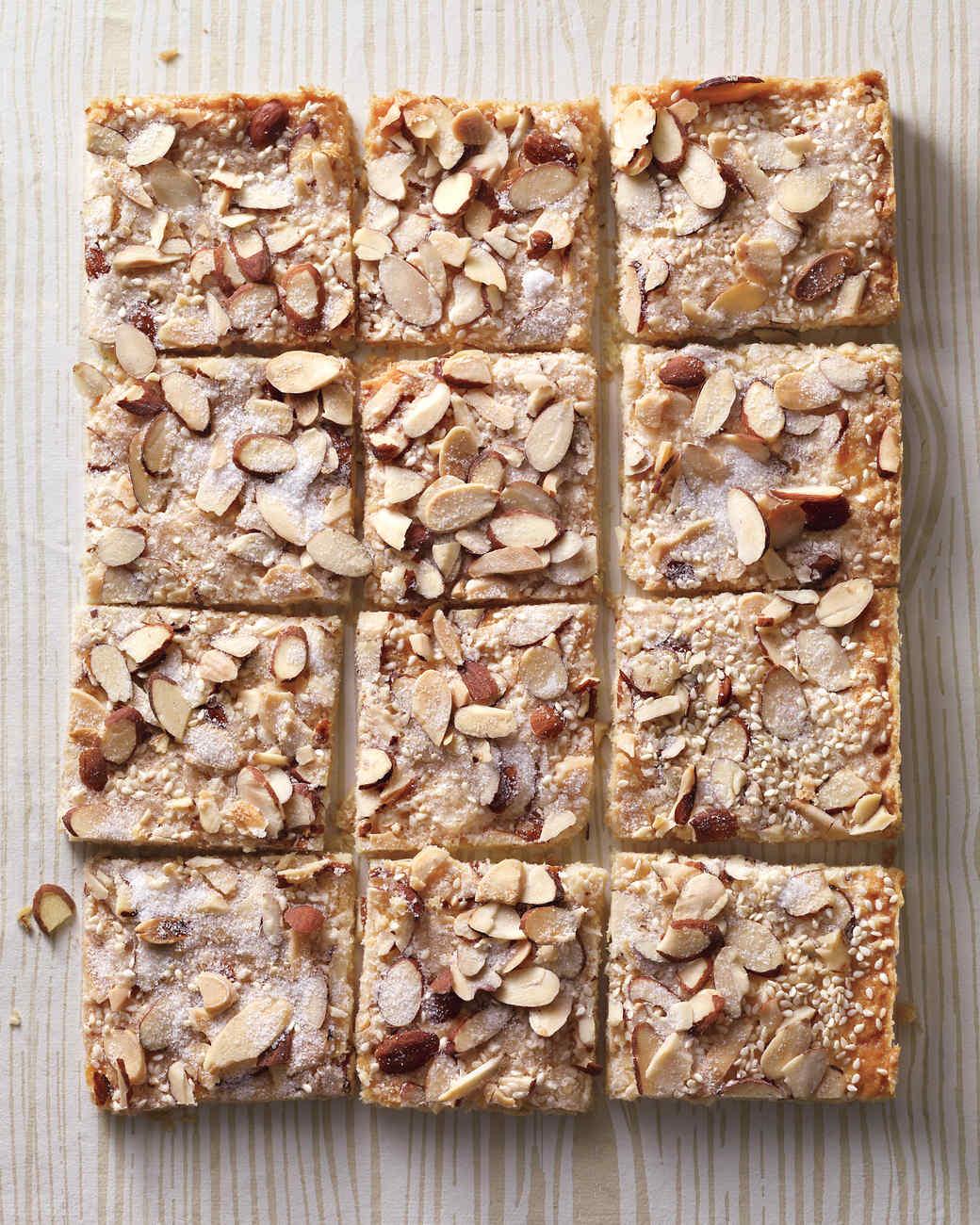 Gingered Sesame-Almond Shortbread Bark