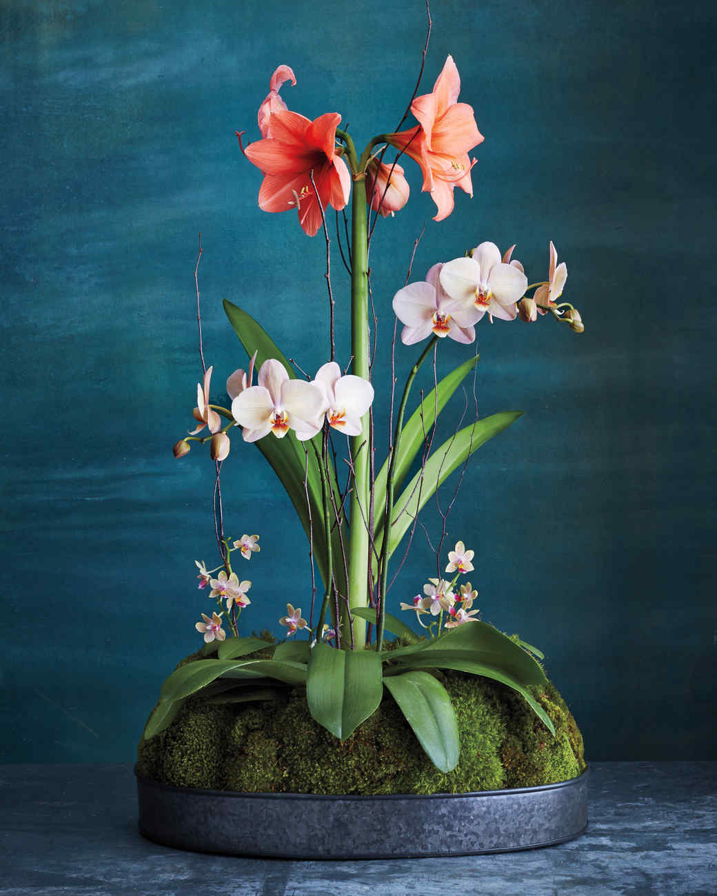 Pretty Flowers Arranged With Moss Martha Stewart