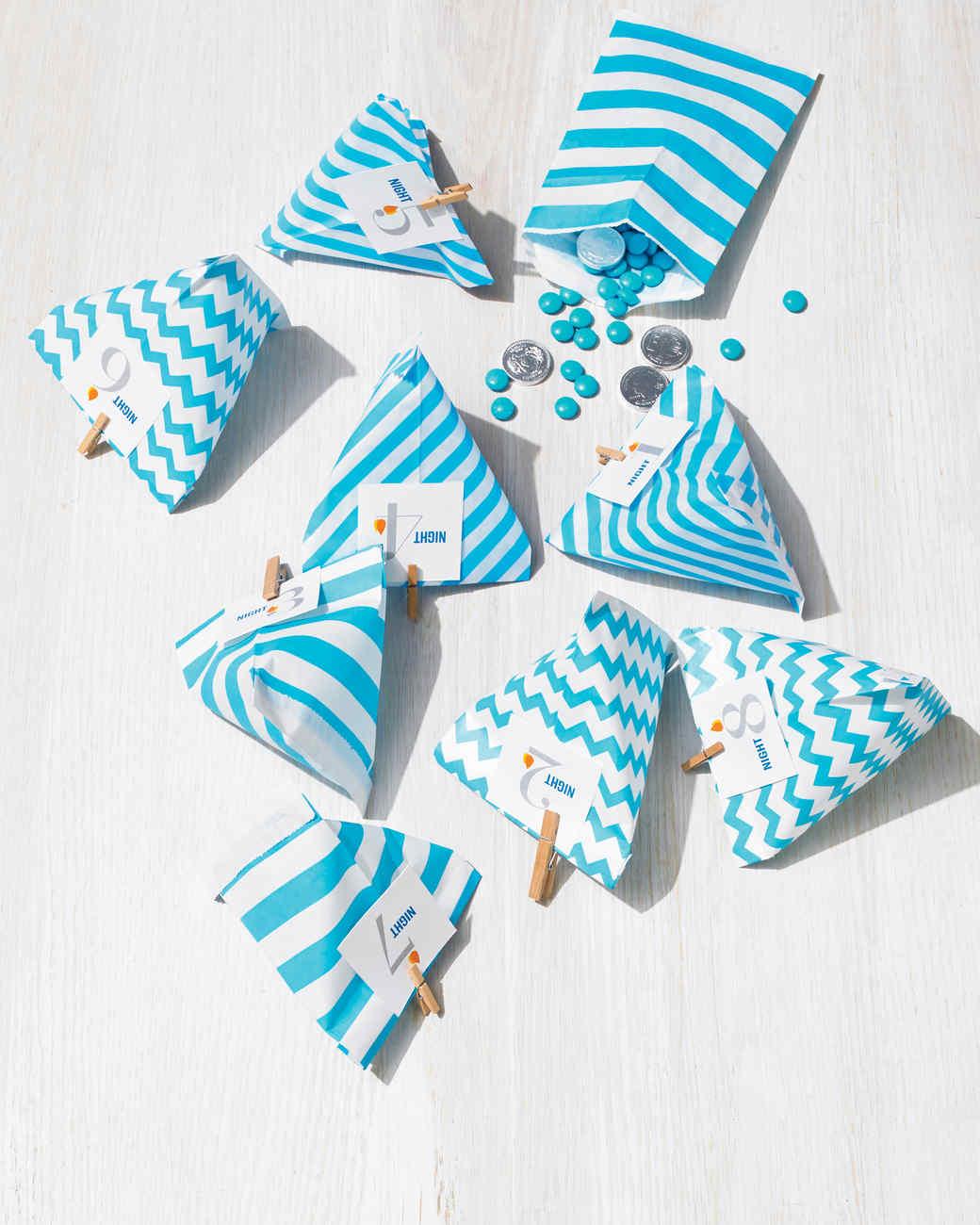 Hanukkah Gift Bags With Clip Art Tags Martha Stewart