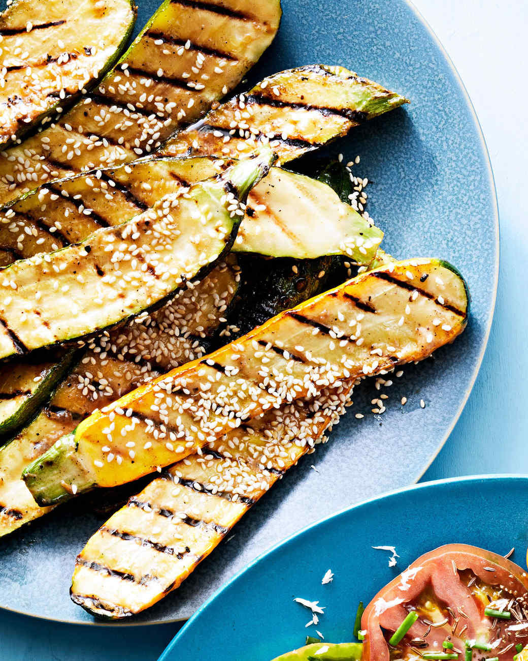 grilled zucchini with miso