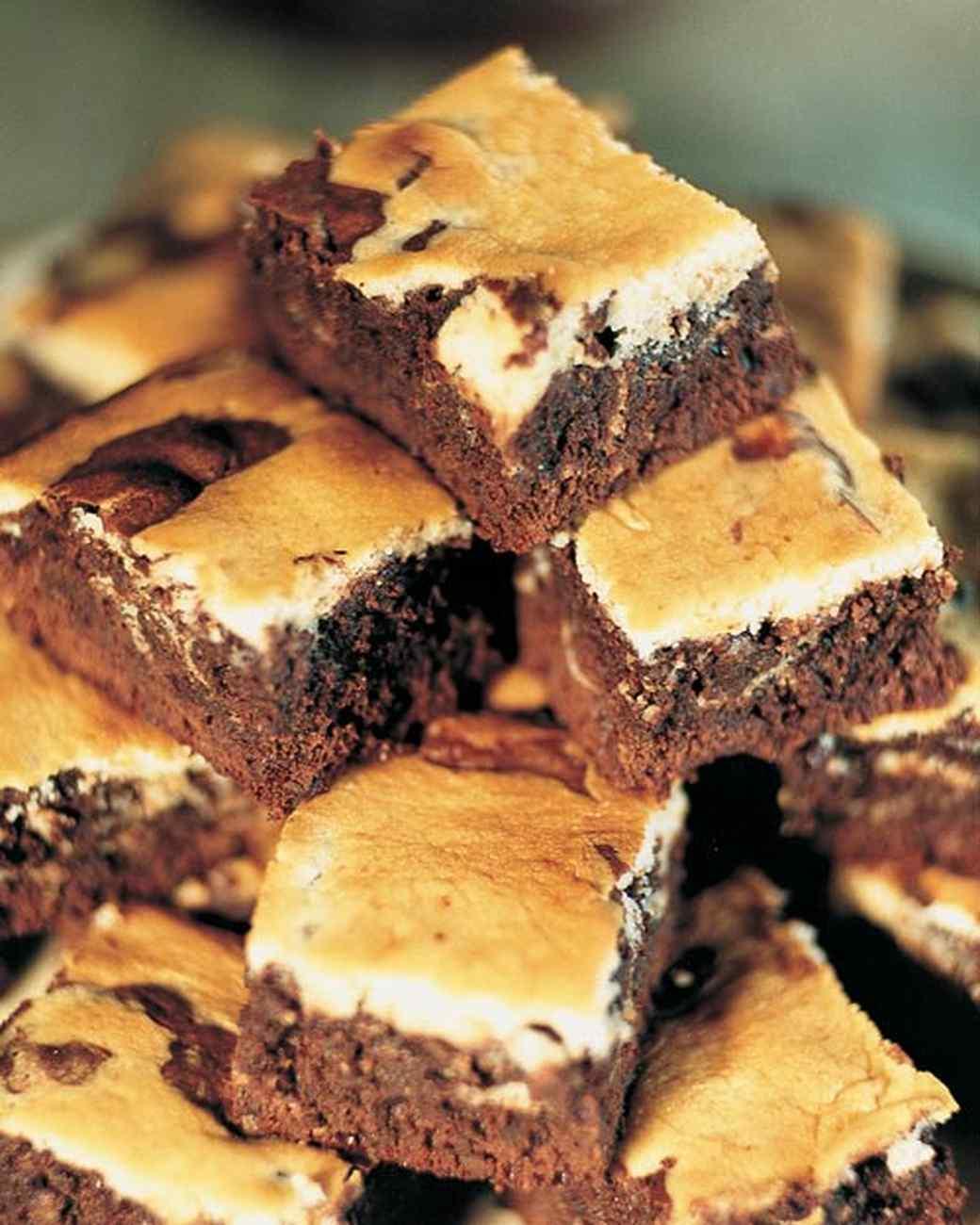 Warm Cream-Cheese Brownies