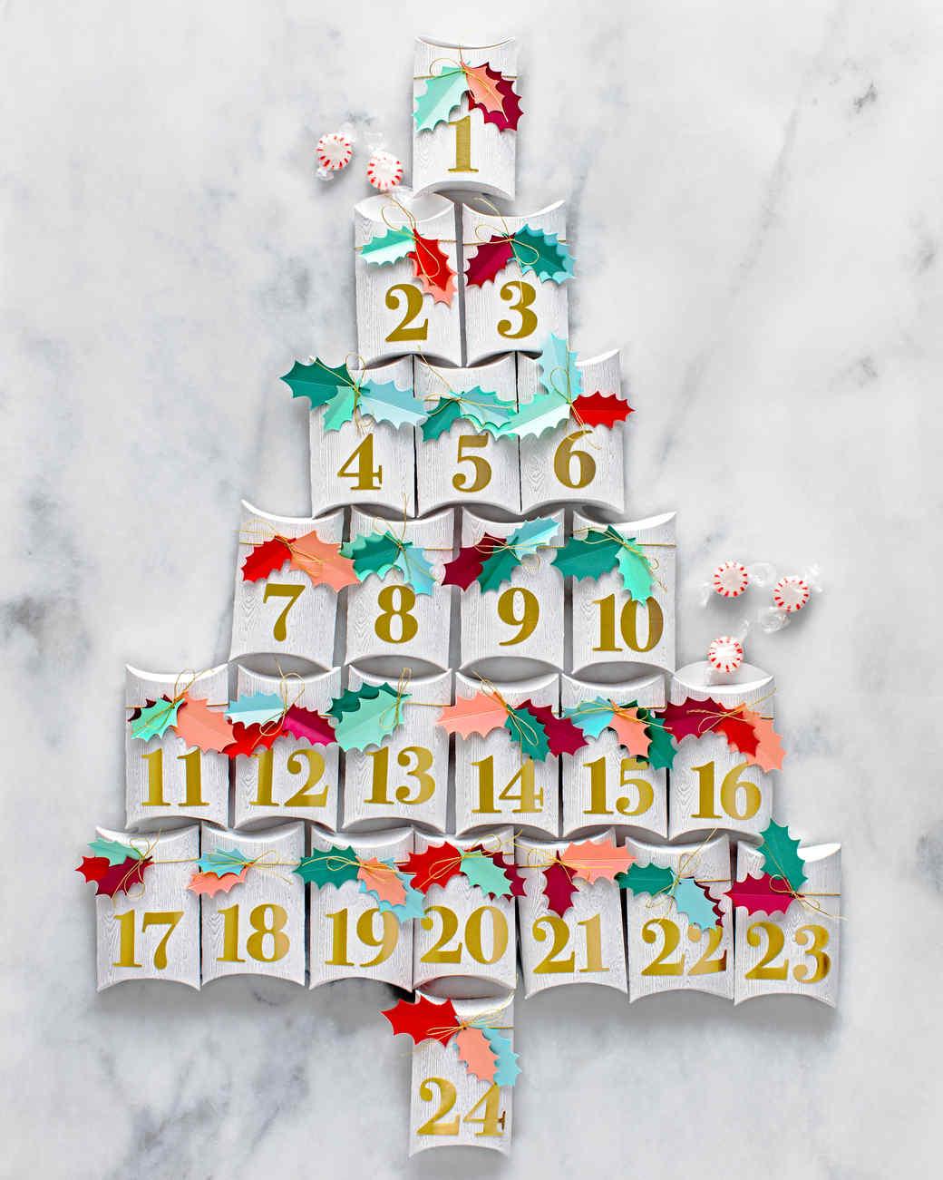 Charming Martha Stewart Christmas Craft Ideas Part - 8: Gift Box Advent Calendar Tree