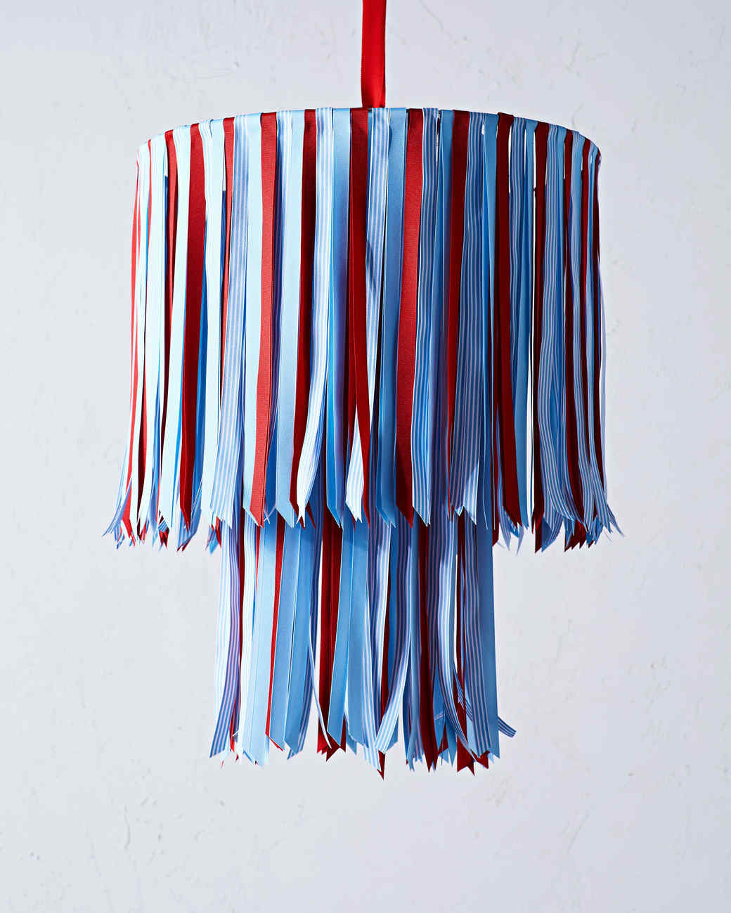 July Fourth Ribbon Chandelier