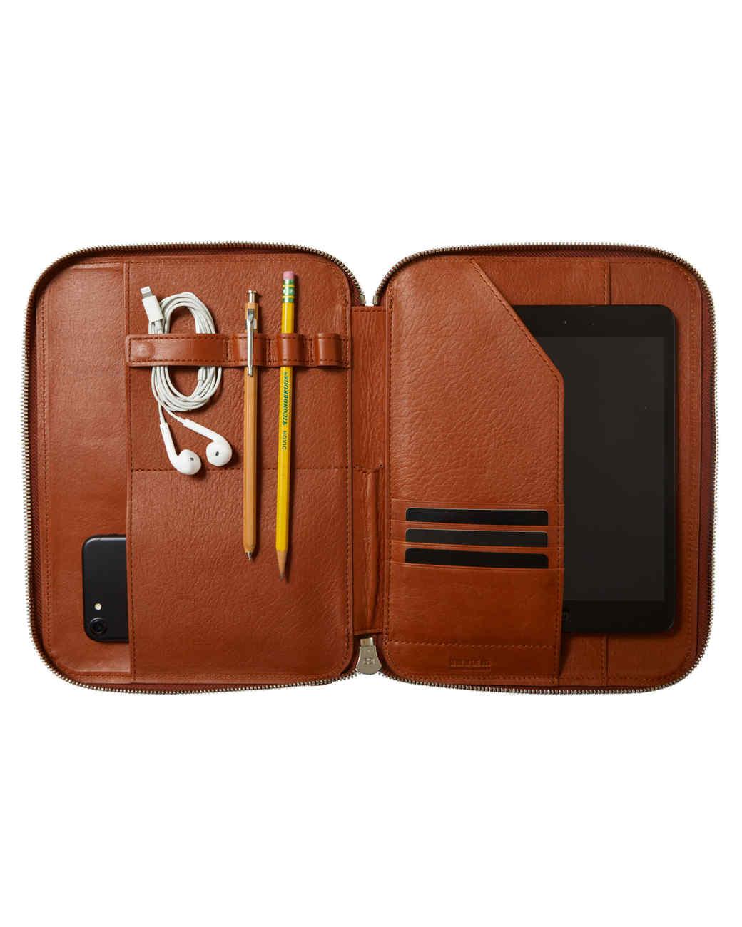 Shinola leather portfolio