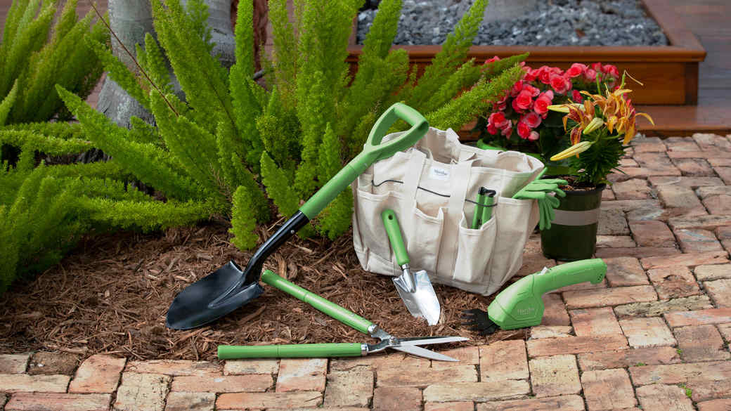 green snow joe gardening tools