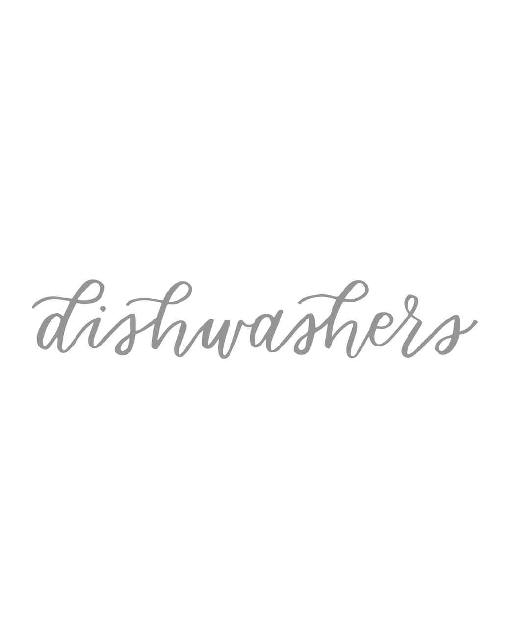 """dishwashers"" calligraphy"