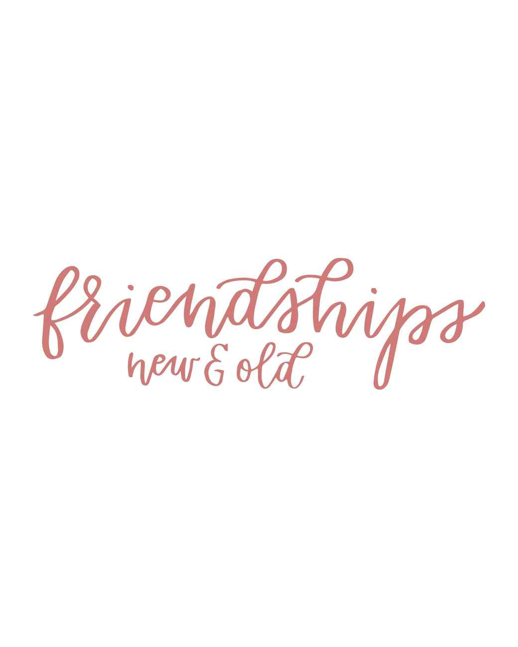 """friendships"" in calligraphy"