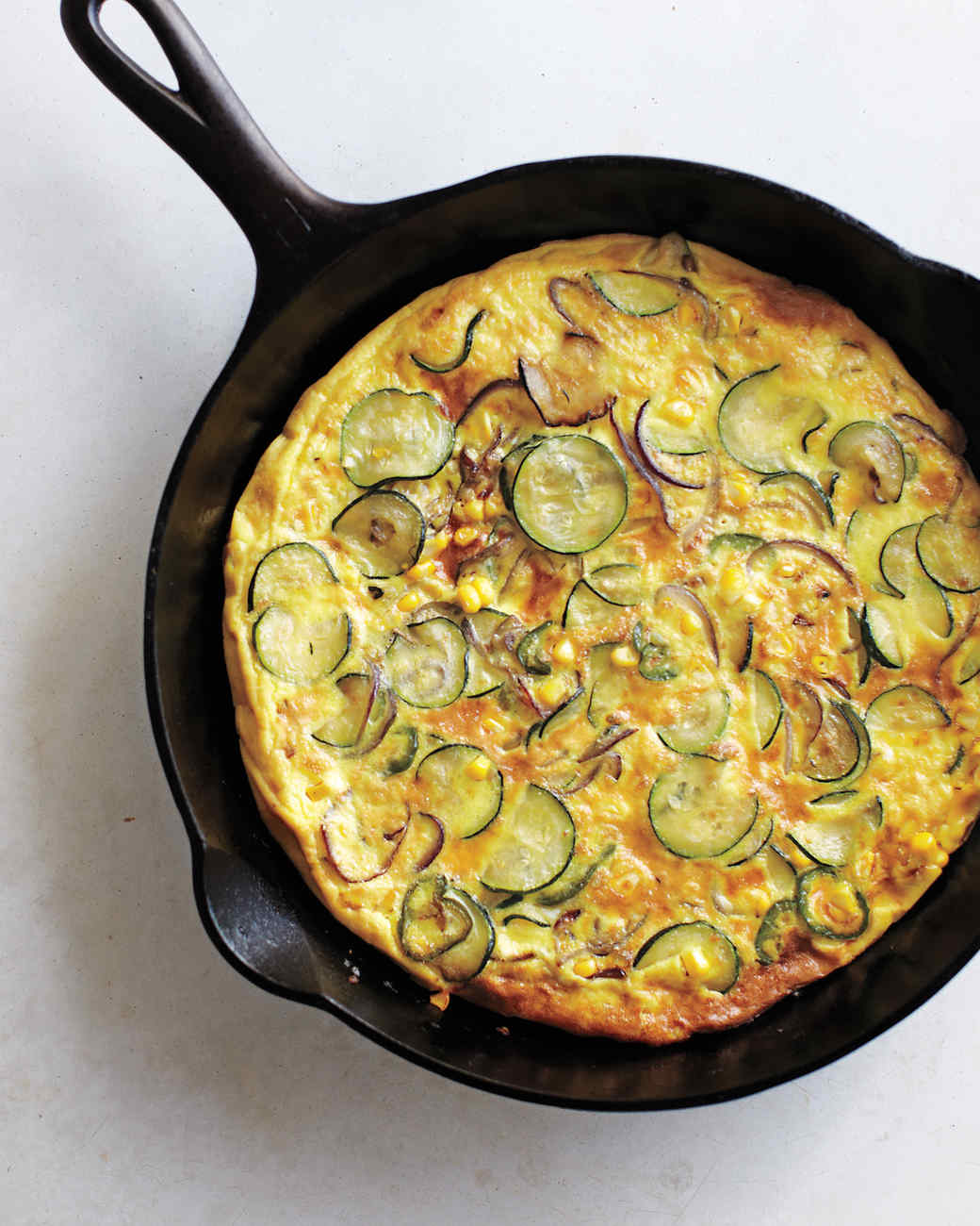 Spicy Zucchini Frittata Recipe & Video | Martha Stewart