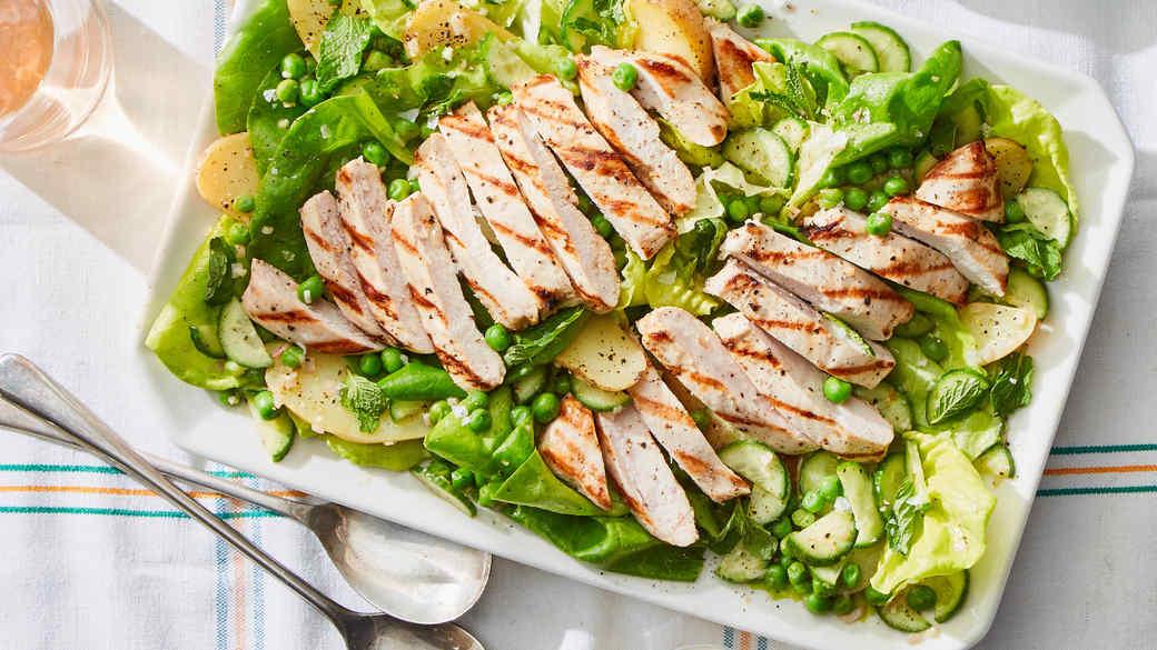 marley spoon chicken pea salad