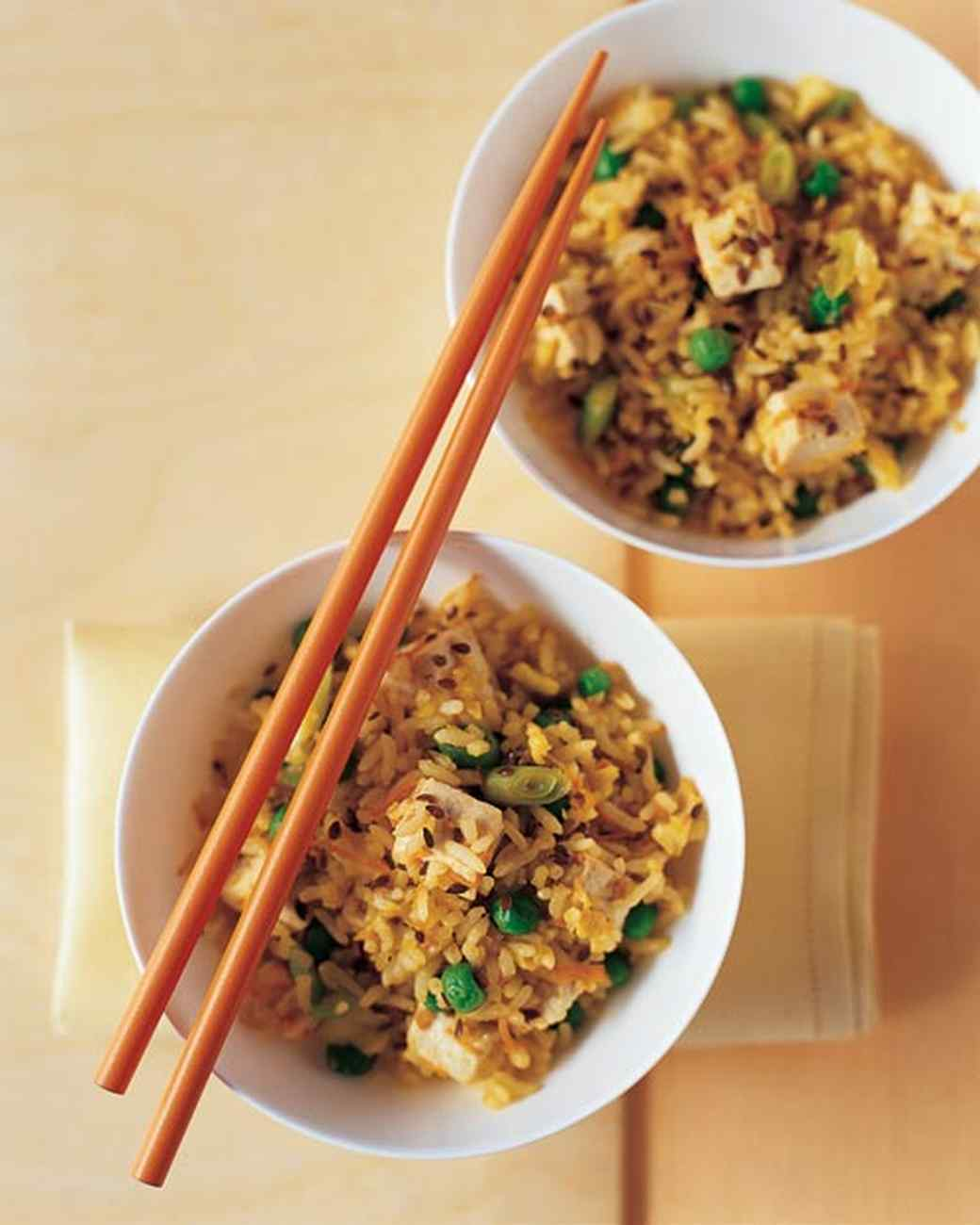 Tofu Fried Rice with Flaxseed
