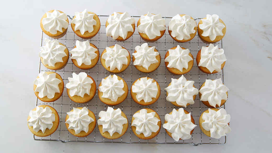 Passion Fruit-Filled Cupcakes