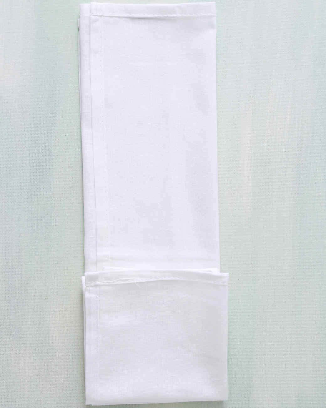 fabric folded lengthwise