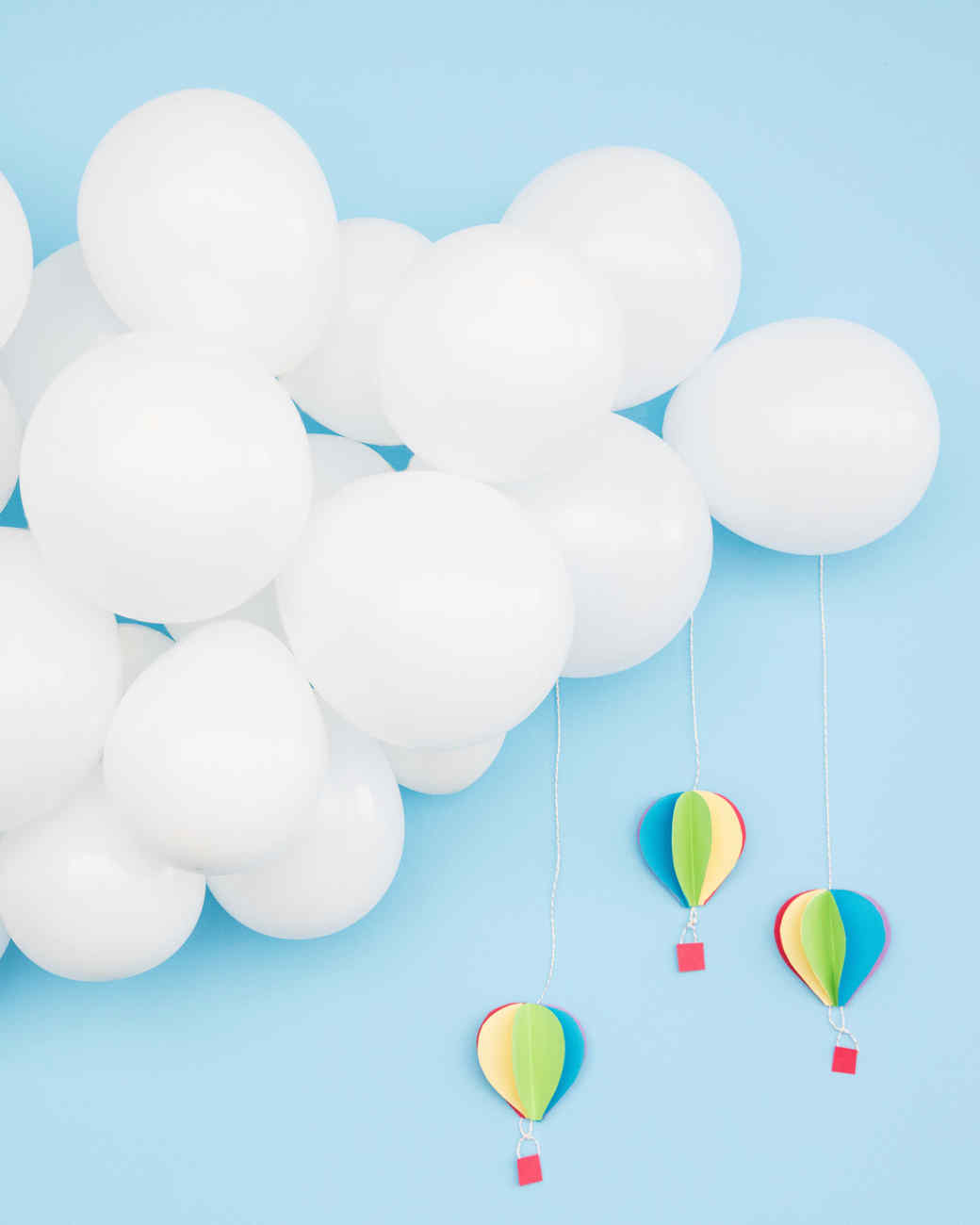 baby shower balloon clouds