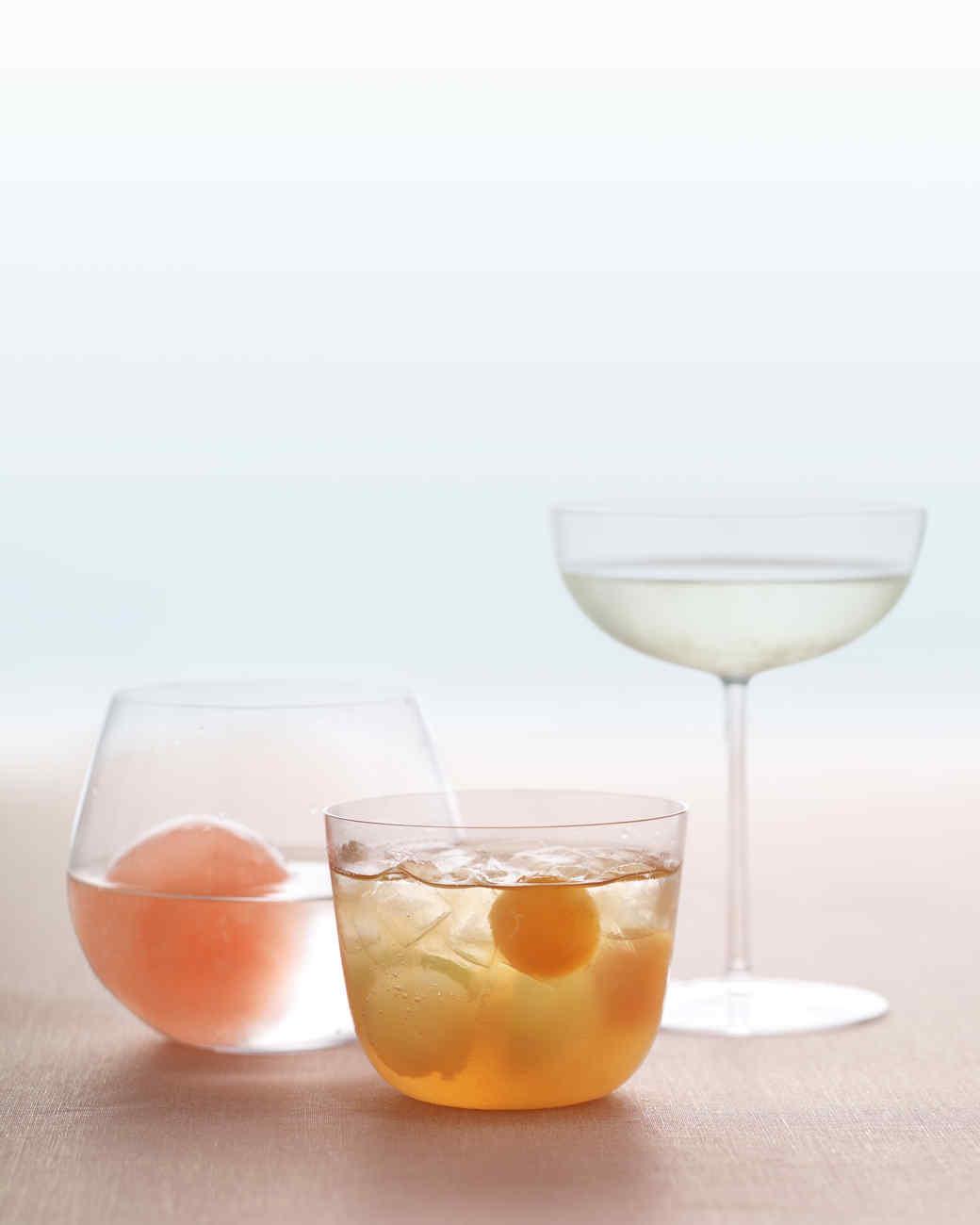 Rum Punch with Melon Balls Recipe | Martha Stewart