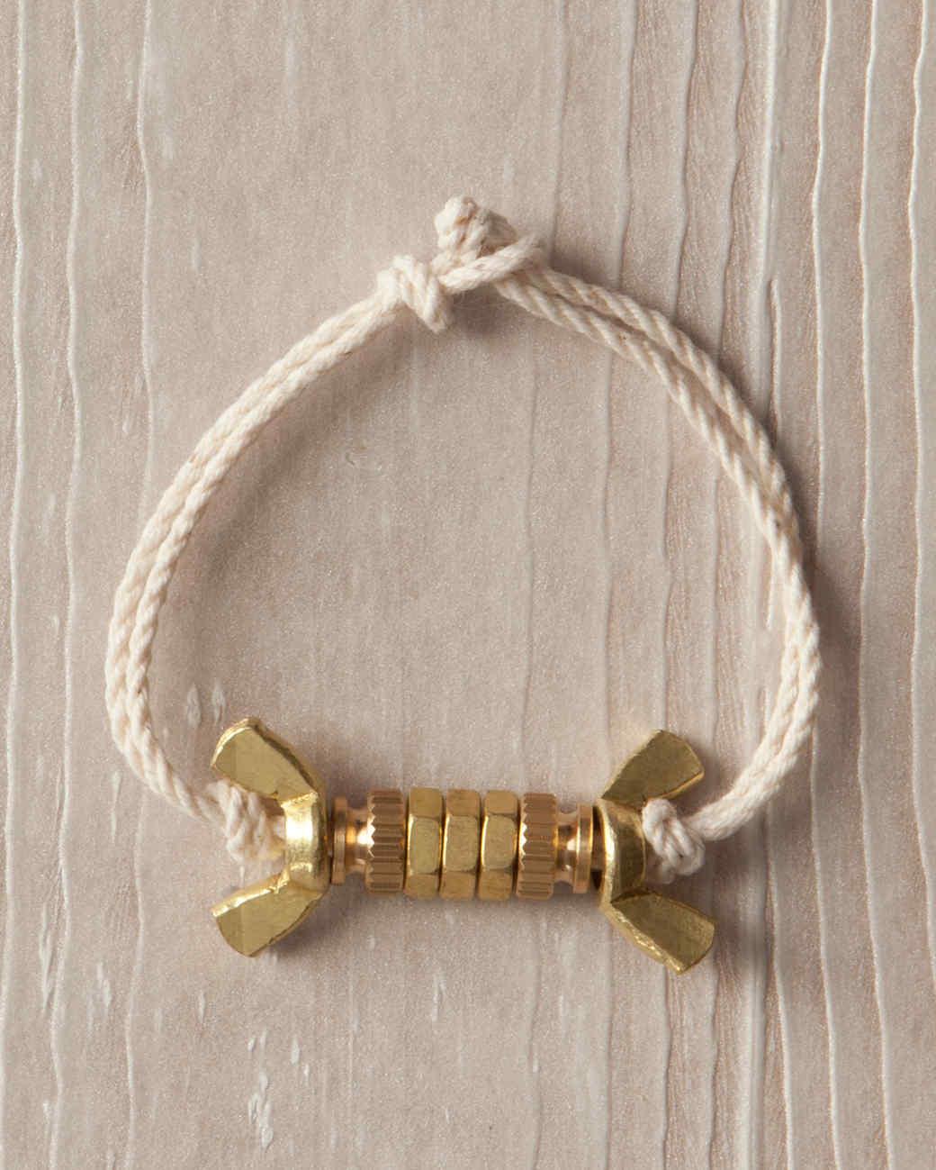 Brass-Nut Bracelet
