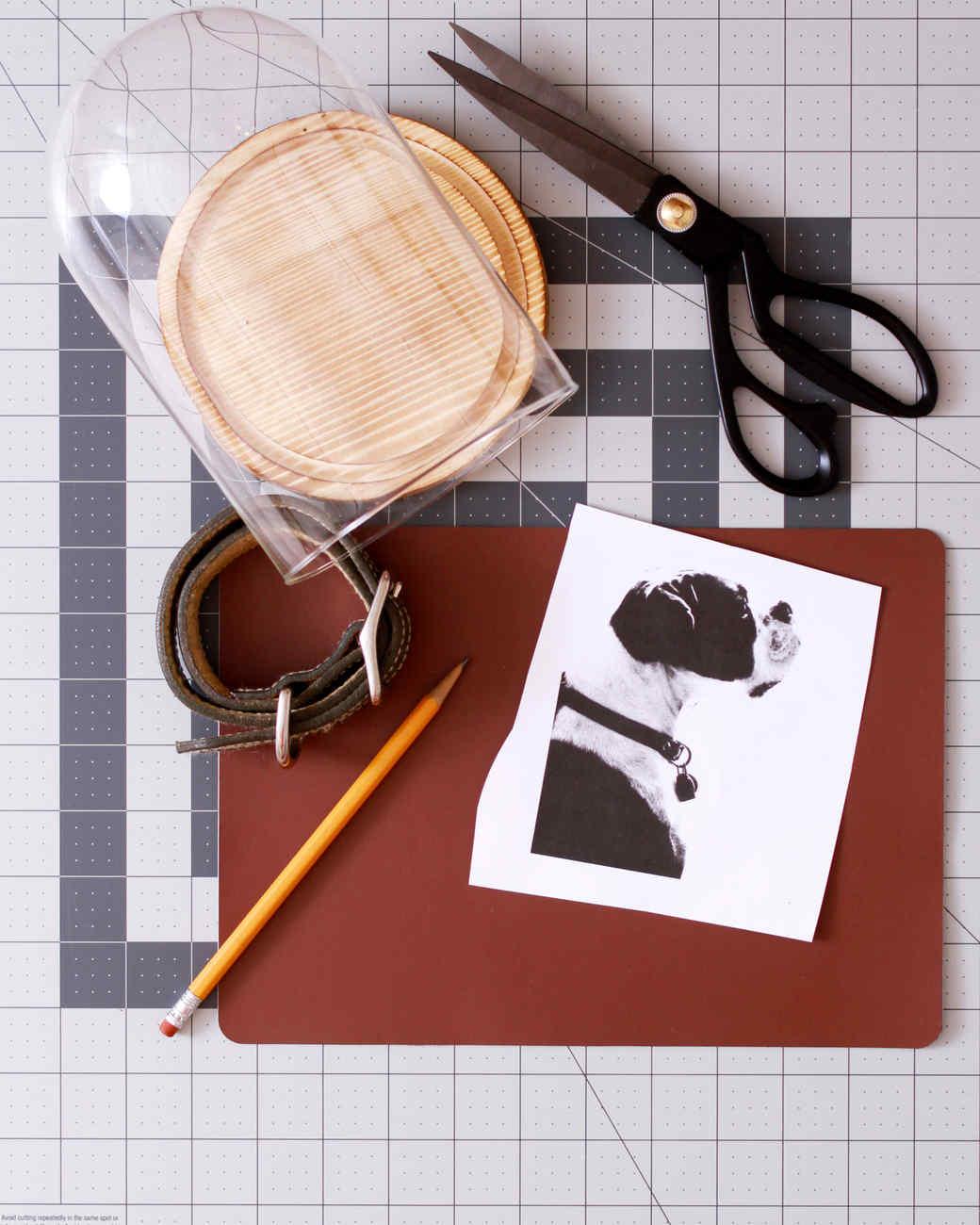 supplies for a pet silhouette keepsake jar
