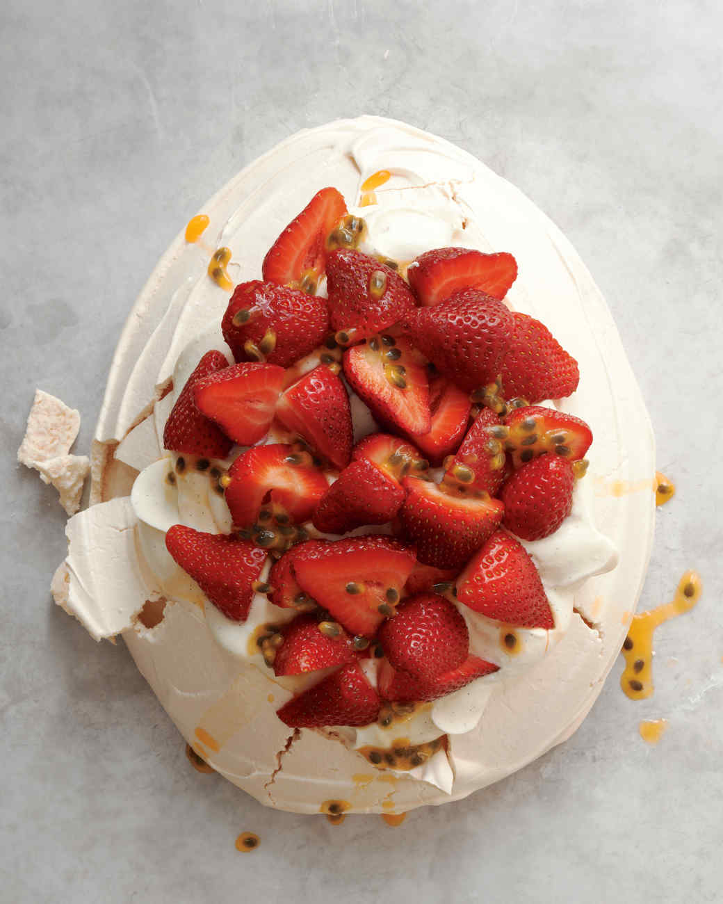 Strawberry-Passion Fruit Pavlova