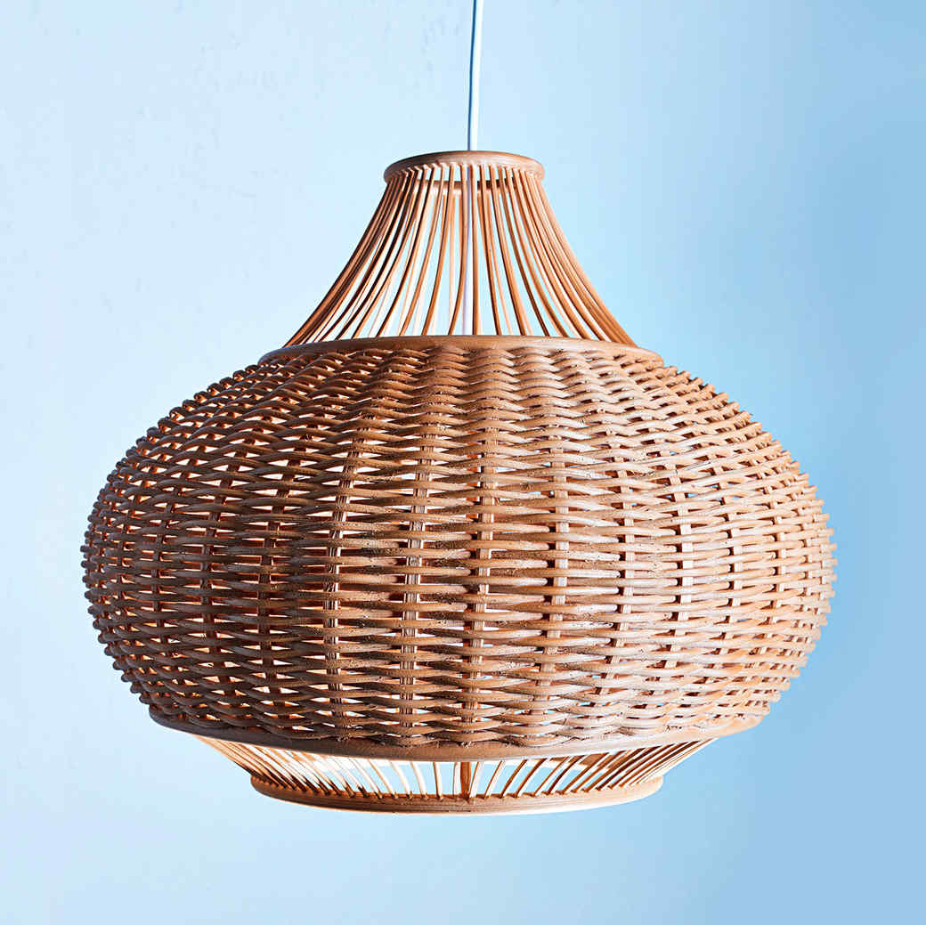 woven hanging light