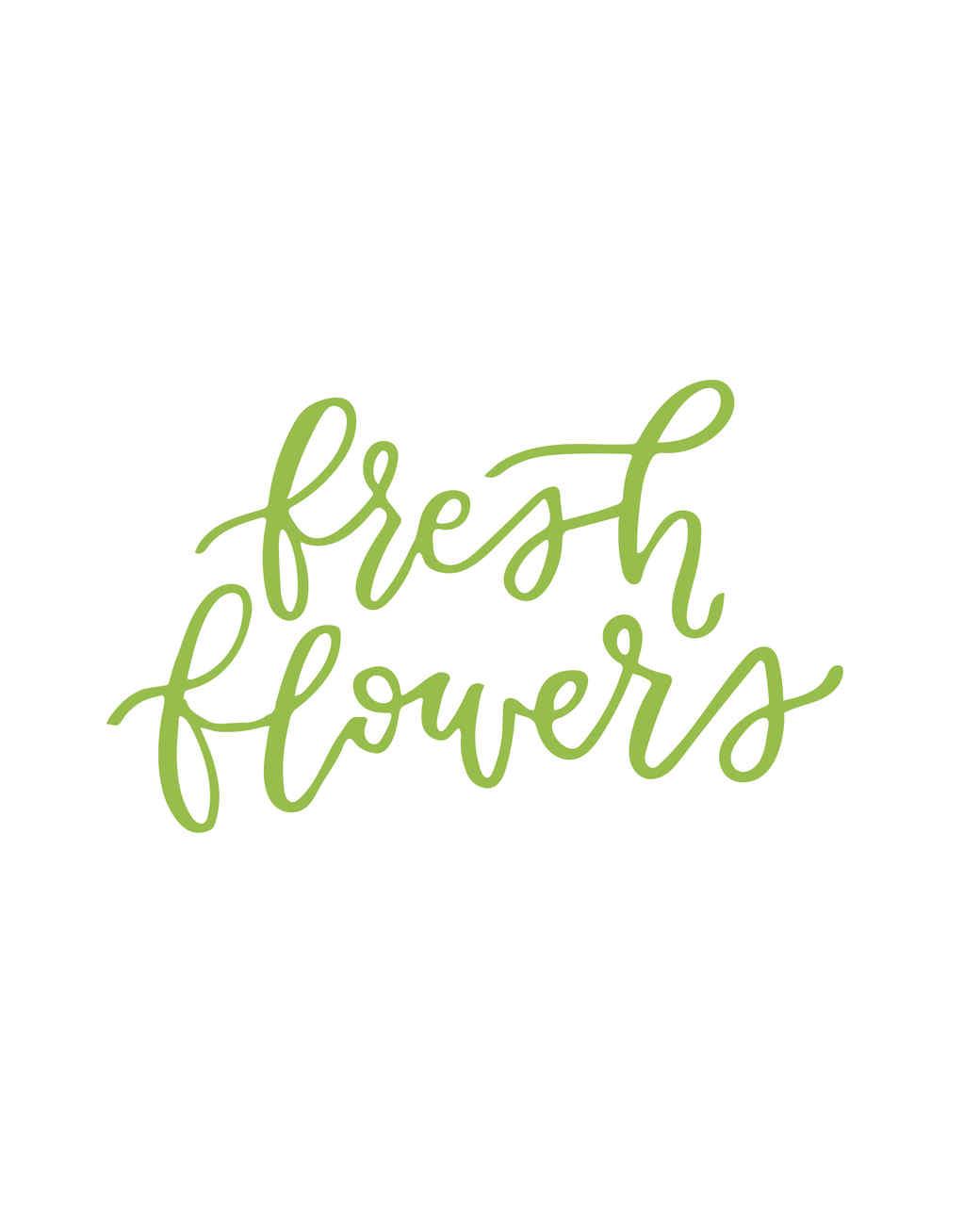 """fresh flowers"" calligraphy"
