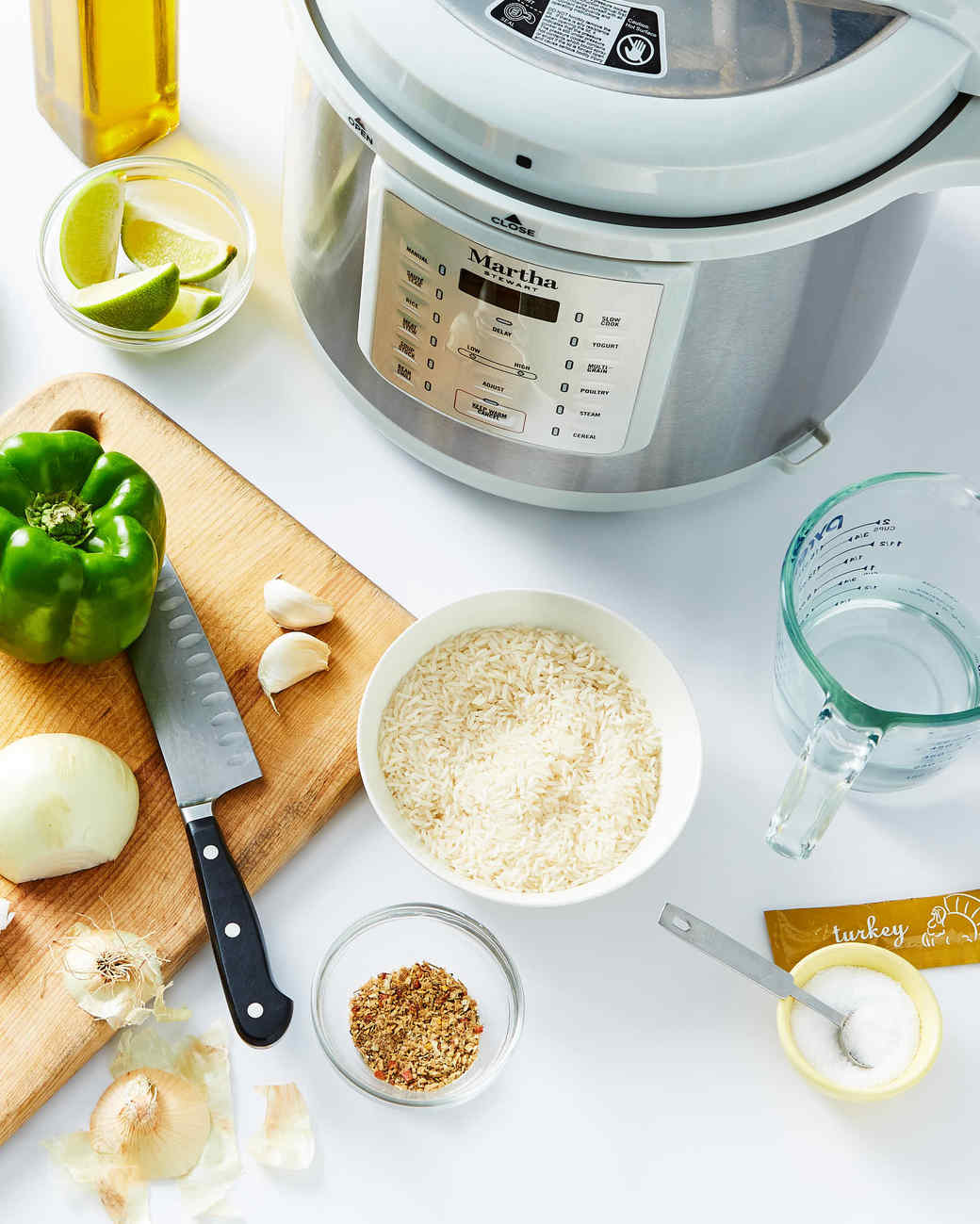 amazon pressure cooker with ingredients