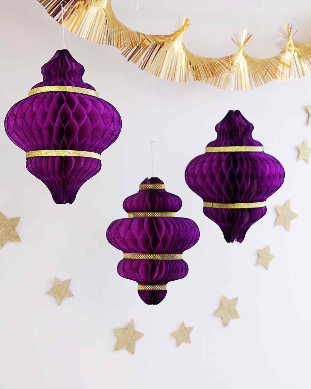Eid al-Fitr honeycomb paper lanterns