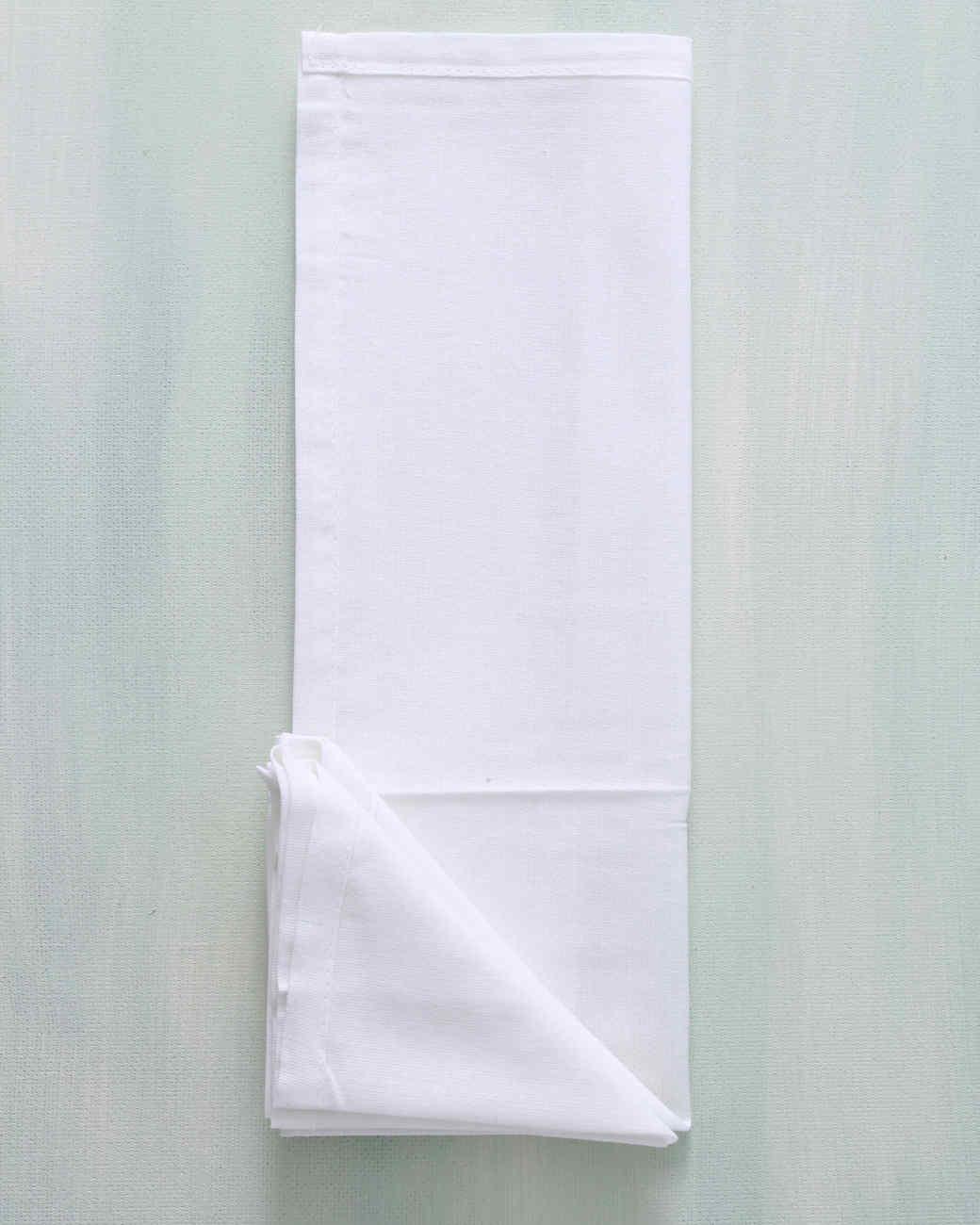 triangular fold started on lengthwise folded fabric