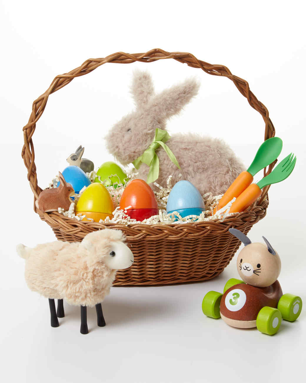 9 adorable easter basket ideas for toddlers martha stewart 9 adorable easter basket ideas for toddlers negle Image collections