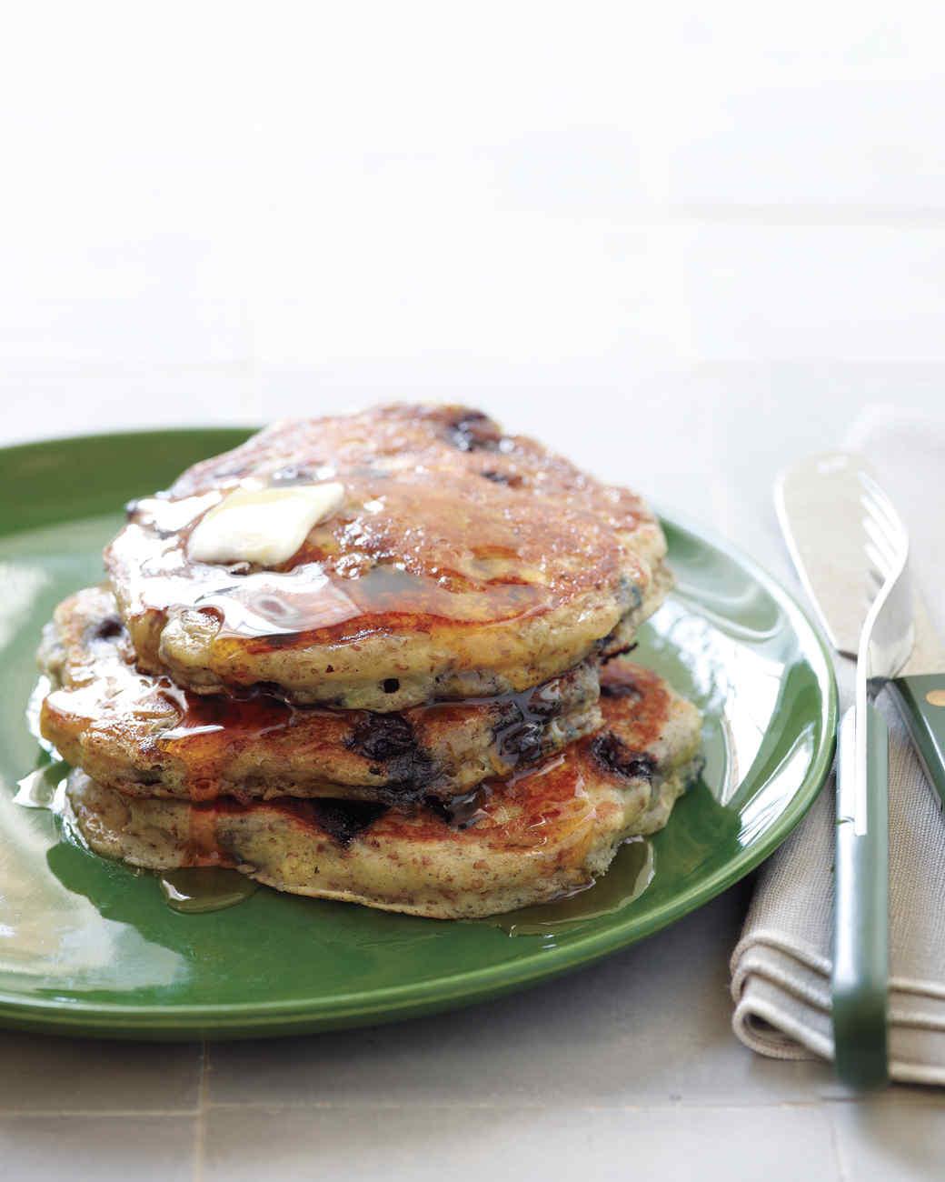 Blueberry-Flax Buttermilk Pancakes