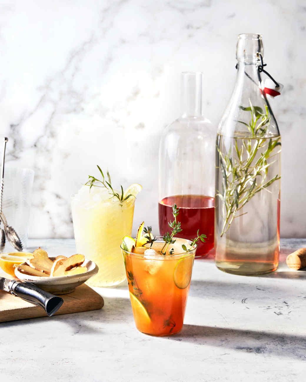 frozen gin terragon lemonade rooibos limeade