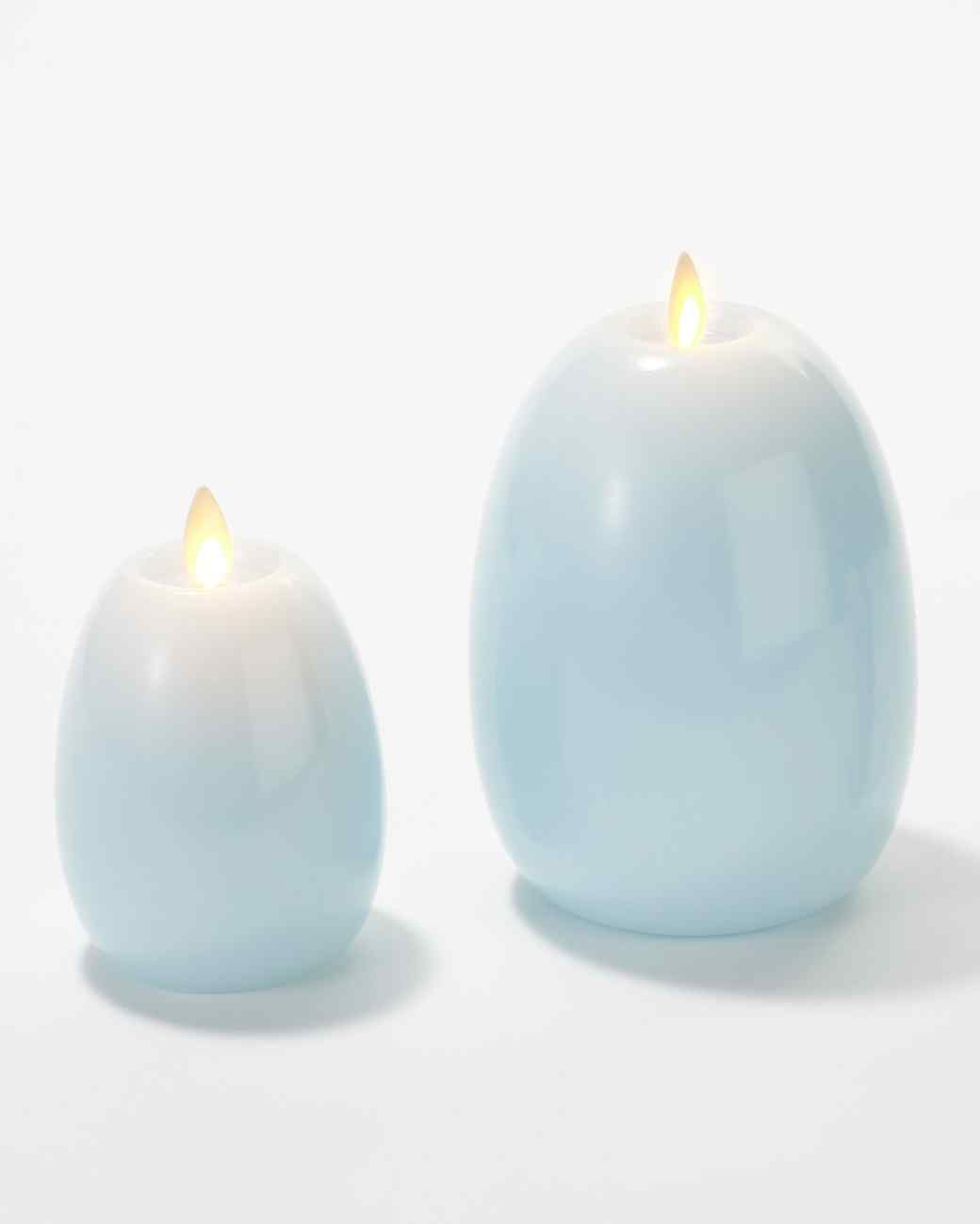 flameless egg candles from qvc