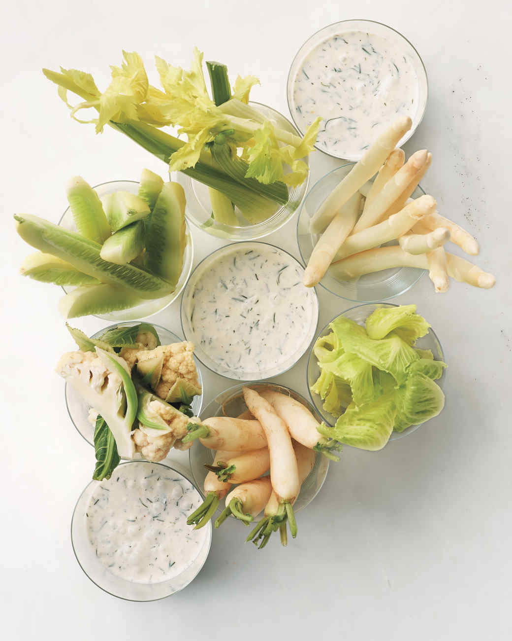 Winter Crudites with Buttermilk Dip