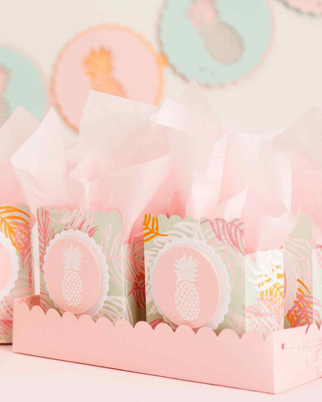Martha Stewart Cricut® Pineapple Party Favor Bags | Martha Stewart