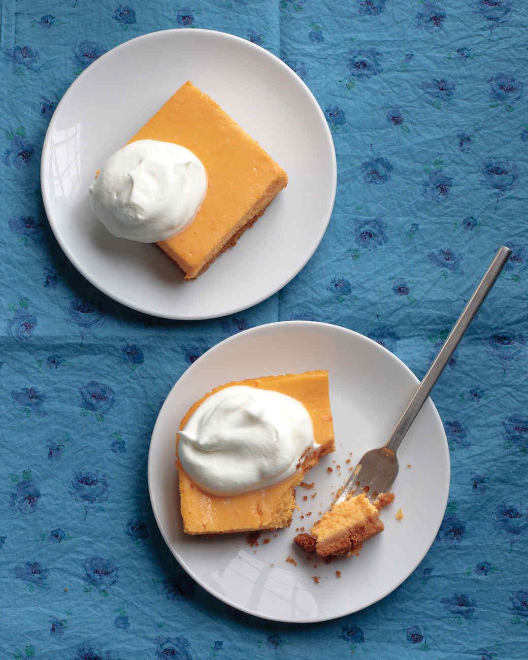 Sweet Potato-Cheesecake Squares