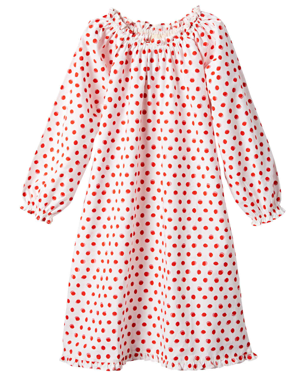 red polka dot nightgown