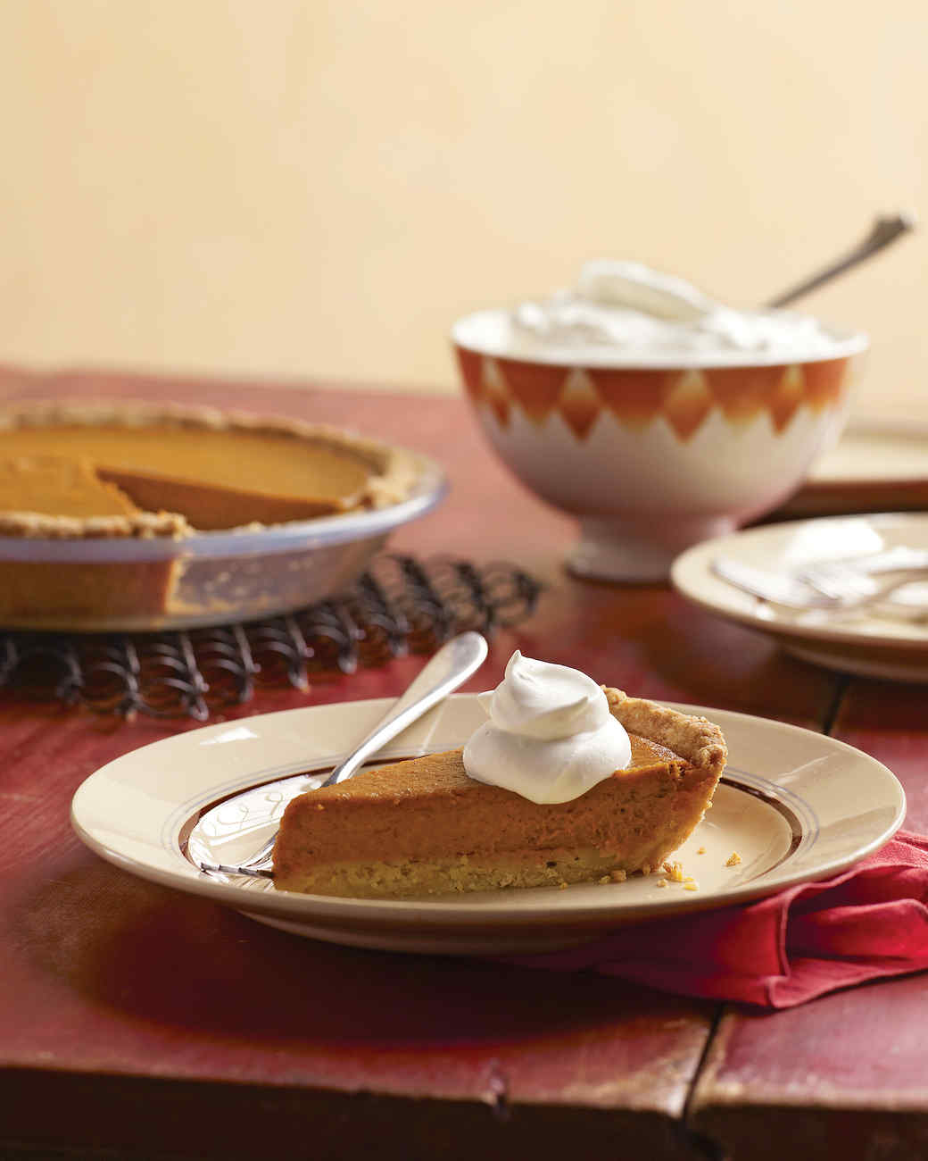 Pumpkin Tart with Press-In Shortbread Tart Shell