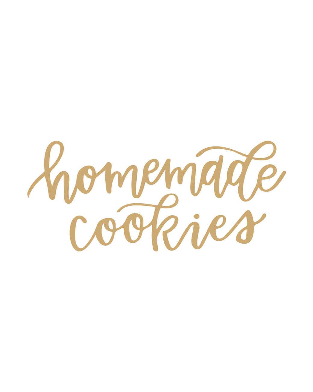 calligraphy of homemade cookies