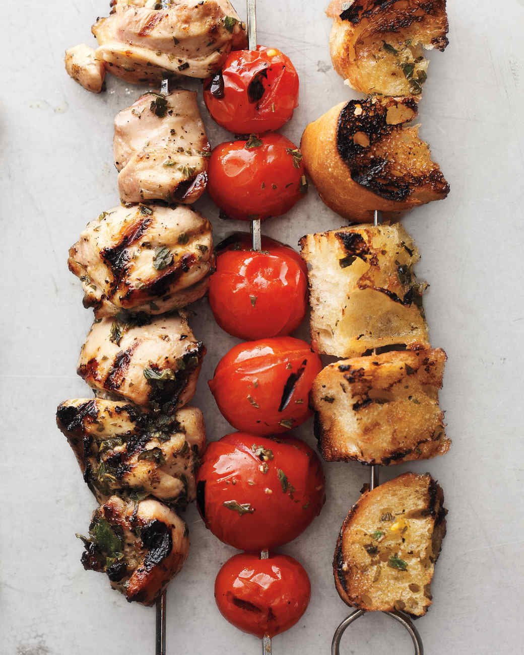 Chicken, Tomato and Bread Cubes with Lemon-Oregano Marinade