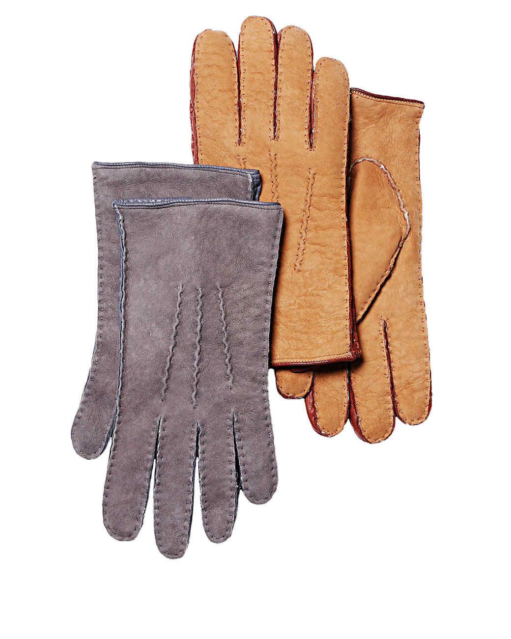 Garnet Hill shearling gloves