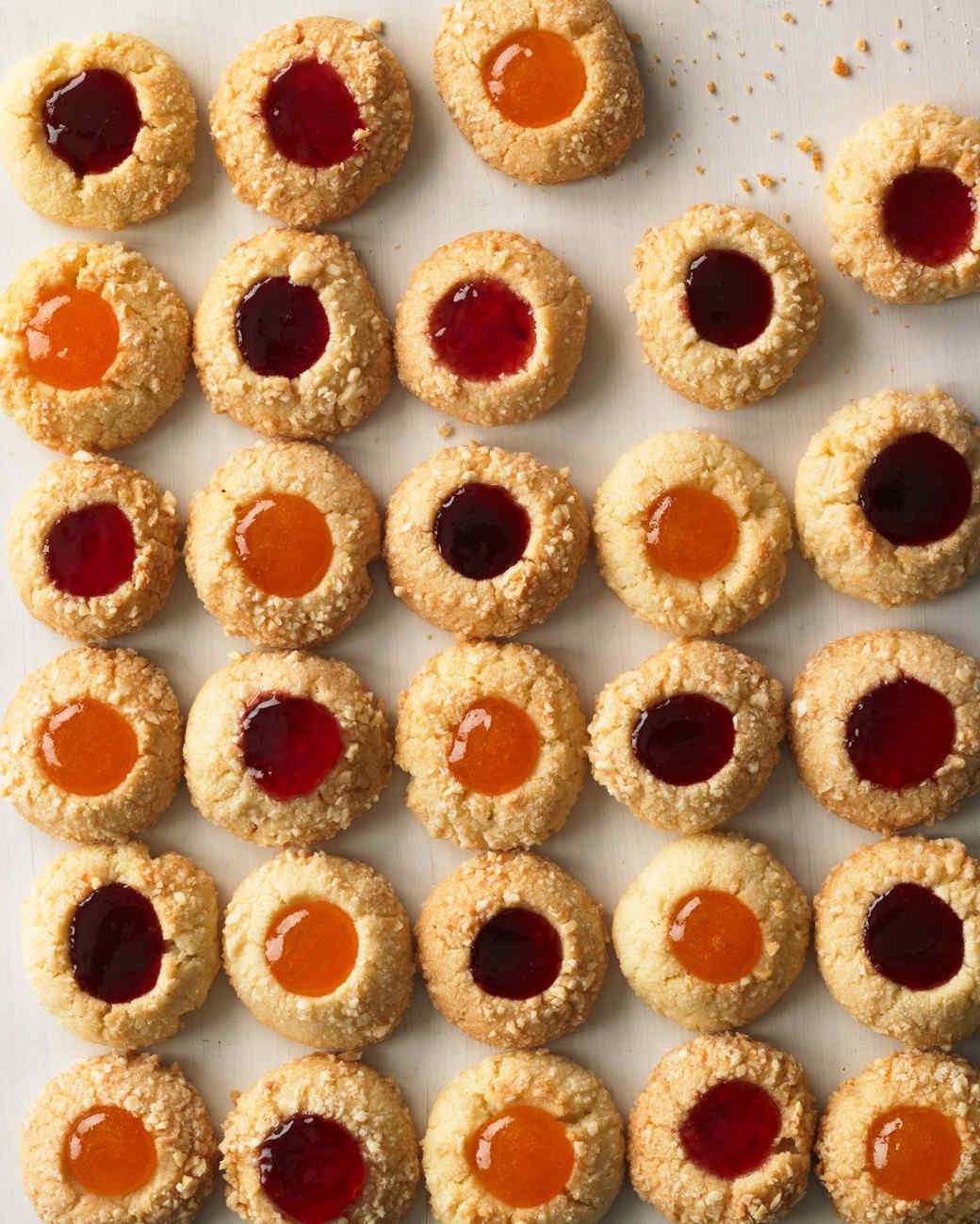 holiday handbook 2011 almond jam thumbprint cookies