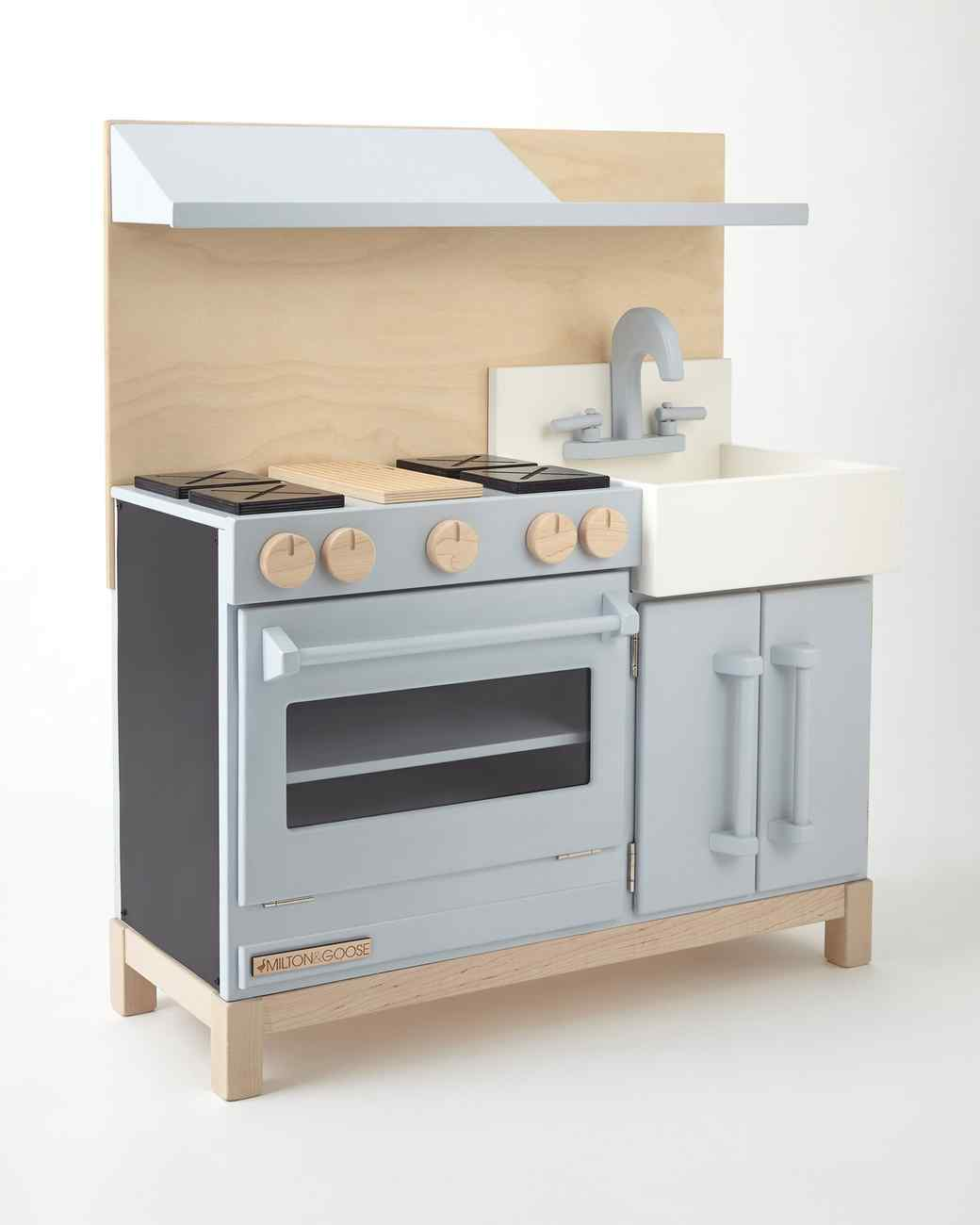 wooden kids play kitchen