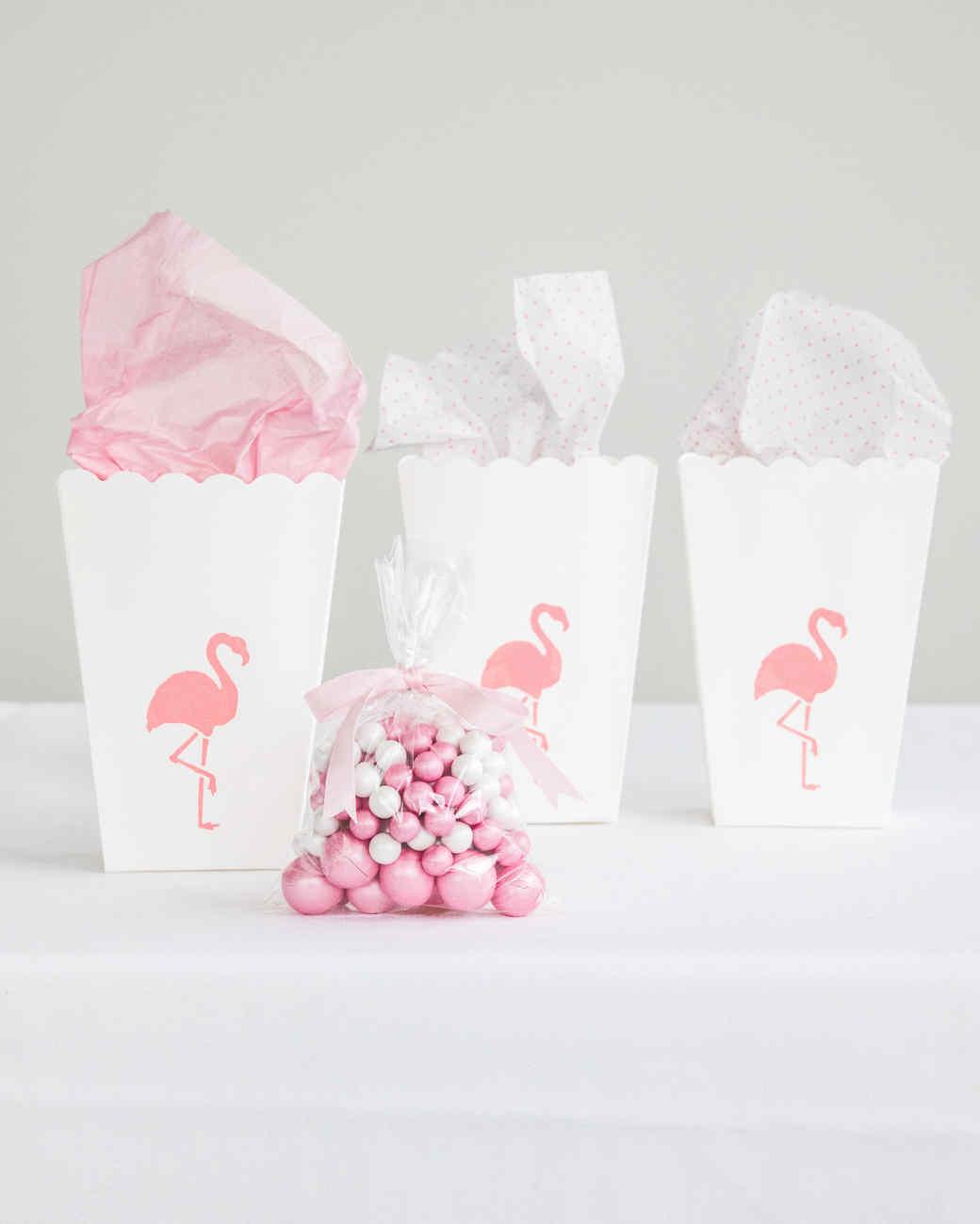 Flamingo Stenciled Party Favor Bags | Martha Stewart