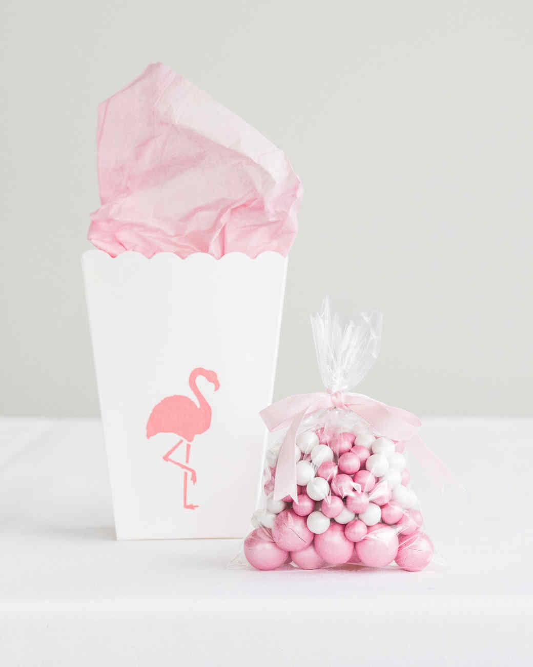 Flamingo Stenciled Party Favor Bags | Martha Stewart
